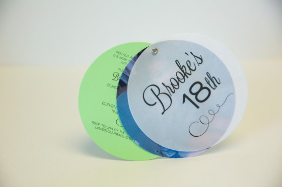 Circular Birthday Invitation